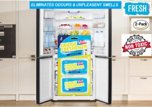 Fridge Freshener Deodoriser Air Freshener Kitchen Smell Odour Refrigerator 2pcs