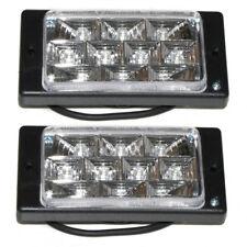 Universal Pair 10 LED White Fog Spot Lights Lamps 12V Car Van Pick Up Offroad