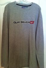 Quiksilver Quicksilver Shirt Men's Size L Gray L/S Thermal Cotton Pullover