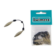 Swimerz Duo Tail Spinner, Hammered Nickel Blade with hook mount, 5 Pack