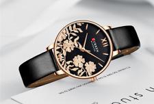 Relojes de Mujer Watch Women Quartz Luxury Fashion Lady Gift Leather Steel Strap