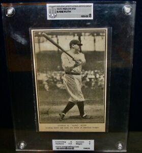 1925 Reach BABE RUTH Baseball Card #58 Newspaper Article AAA 8 NM/MT Yankees