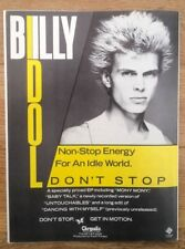BILLY IDOL Don't Stop magazine ADVERT/Poster/Clipping 11x8 inches