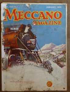 Meccano Magazine:  3 issues from 1933 - Jan., Feb., May, with cover faults