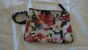 LODIS Multi Color Painted Floral Wristlet Cosmetic Clutch Pouch Purse