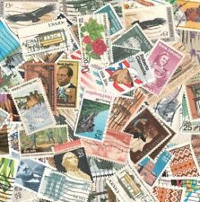 Lot Of 35  Commemorative & Airmail Used US Postage Stamps In Glassine Envelope