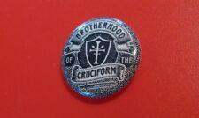 CUSTOM BROTHERHOOD OF THE CRUCIFORM PINBACK BUTTON PROP INDIANA JONES CRUSADE
