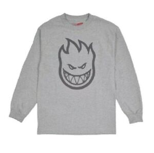 Spitfire BIGHEAD Athletic Heather Charcoal Logo L/S Regular (D) Men's T-Shirt