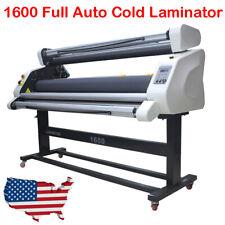 60 Pneumatic Full Auto Roll Laminator Hot Cold Laminating Machine Wide Format