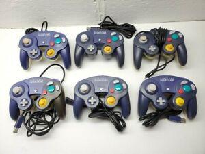 1x Official Nintendo GameCube Controller Indigo Purple & Clear Back Discolored