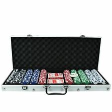 Casino Games Vegas Style Texas Holdem Professional Poker Playing Cards Chips Set