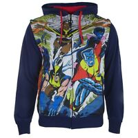X-Men - Blasted Sublimated Zip Hoodie With Removable Sleeves