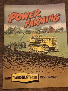 1952 CAT Caterpillar D2 D4 D6 D7 D8 D9 power farming tractor brochure