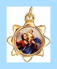 SAINT CHRISTOPHER GILT RELIGIOUS MEDAL CATHOLIC STATUES CANDLES PICTURES LISTED