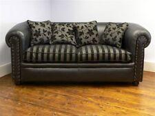 Art Deco Design Regency Plain Chesterfield 3 str soft seat cushion sprung back
