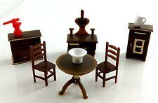 Dollhouse Miniature 1:48 Scale Plastic Kitchen Furniture Set