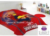 Edredón nordico Spiderman (180 x 240cm),original,económico 90 y 105 cm y calidad
