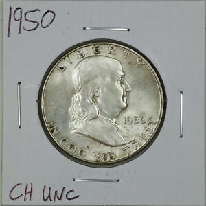 1950 50C Franklin Half Dollar in Choice Uncirculated Condition #06388