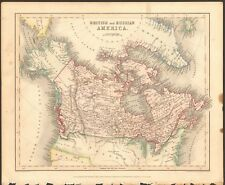1840 ca ANTIQUE MAP - BRITISH AND RUSSIAN AMERICA