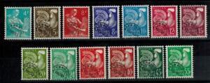 (a41) timbres préoblitérés France n° 106/118 neufs** années 1953-1959
