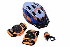 ACTION MAN BOY GREAT GIFT SET FOR BIKE SCOOTER AND SKATE RIDERS HELMET PADS BELL