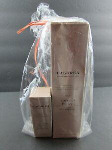 NIB CALDREA Coconut Fig Leaf 4oz Body Oil & .25oz Perfume Gift Pack Very Rare