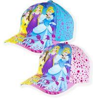 Disney Princess Girls Baseball Cap Summer Sun Hats 2-10 Years 52 54 cm NEW 2018
