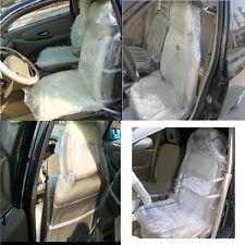 100pcs Disposable Plastic Car Seat Covers Protectors Mechanic Valet Roll