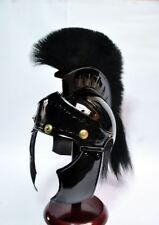 NEW ROMAN Medieval Centurion Armor Helmet Spartan Costume black plume
