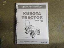 Kubota L3301 L3901 L 3301 3901 tractor owners & maintenance manual