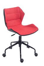 Chaises rouge en métal pour le bureau