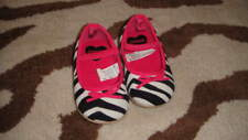 GYMBOREE 4 ZEBRA HOT PINK SHOES WILD ONE INFANT BABY