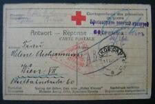 Kriegsgefangenenpost 1918: Karte von Russland nach Wien