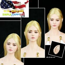 1/6 Fairy Elf Female Head blonde Detachable Ears PALE for PHICEN hot toys ❶USA❶