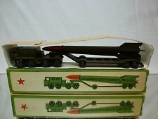 CCCP USSR MILITARY TRUCK + MISSILE - ARMY GREEN L24.0cm - VERY GOOD IN BOX