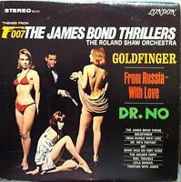 ROLAND SHAW ORCHESTRA 007 james bond themes thrillers LP VG+ PS 412 Vinyl 1965