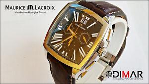 MAURICE LACROIX Crono Quarz, CAL.5040.B, Kristall Saphir WR.50m