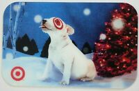 Target Gift Card Lenticular Bullseye Dog Licking Snowflakes - 2009 - No Value
