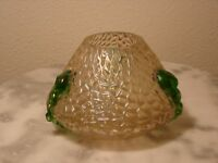 Antique Bohemian Kralik Iridescent Nautilus Art Glass Rose Bowl Vase