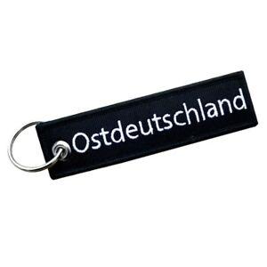 Schlüsselanhänger Ostdeutschland klare Schrift Stick Osten DDR anhänger keychain