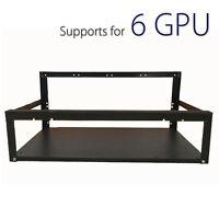 6 Gpu Mining Rig Aluminum Case Stackable Open Air Frame Eth/zec/btc Pc
