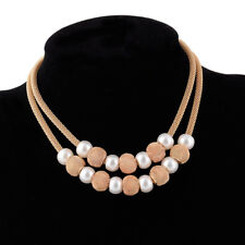 Necklace Charm Bib Chain Jewelry Multilayer Fashion Women Pearl Clavicle Choker