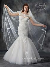 NEW Karelina Sposa Mary's Bridal Gown C8038 Mermaid Wedding Dress Ivory Sz 16