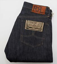 NEW Ralph Lauren RRL DOUBLE RL Selvedge Straight Leg Rigid Raw Denim Jeans 36/34
