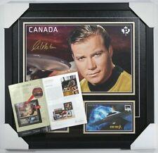 William Shatner autographed framed Canada Post 2016 Star Trek,original packaging