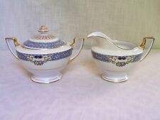 Thomas Bavaria Queen Louise Cream Pitcher Lidded Sugar Bowl Set