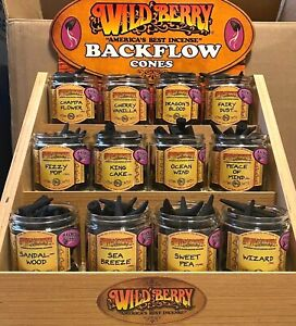WILD BERRY BACKFLOW INCENSE CONES 5 PACK BUY 2 GET 1 FREE wildberry back flow