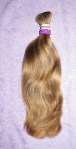 HUMAN HAIR HAIRCUT 12 INCH NICE THICK BLONDE BEAUTY PONYTAIL REBORN DOLLS P72