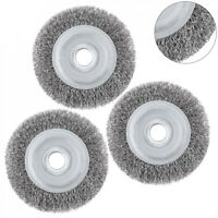 "4""-12"" Stainless Steel Wire Brush Wheel For Metal Polished Derusting Clean Tools"