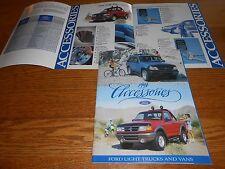 1996 FORD PICKUP TRUCK VAN BRONCO EXPLORER 32 p. ACCESSORIES CATALOG 96 BROCHURE